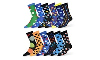 12-Pack Robert Shweitzer Men's Colorful Patterned Dress Socks
