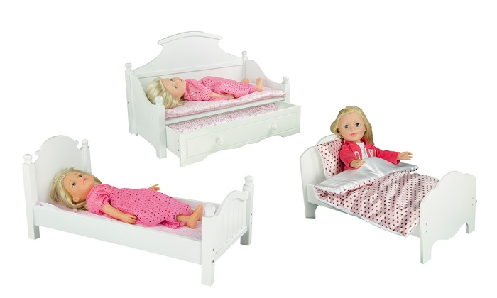 Olivia's Little World Sleep Tight 18″ Doll Beds