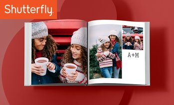 Up to 83% Off Custom Hardcover Photo Book from Shutterfly