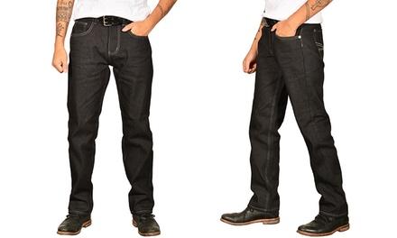 True Rock Men's Classic Straight-Fit Denim Jeans (Size 40)