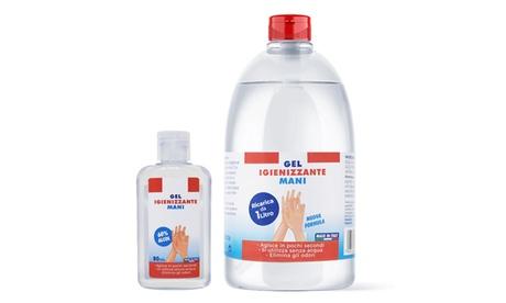 Image of Set con 1 gel disinfettante mani da 1 L ed 1 gel da 80 ml