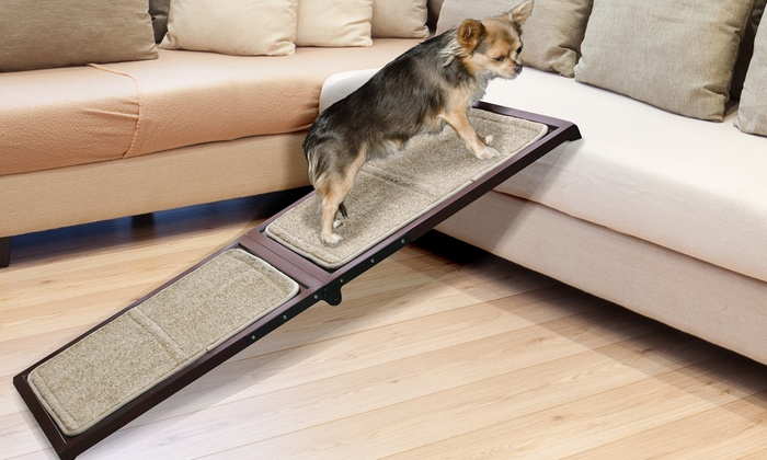 Deluxe Indoor Carpeted Wood Pet Ramp Groupon