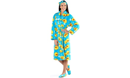 Women's Duck Bathrobe Set