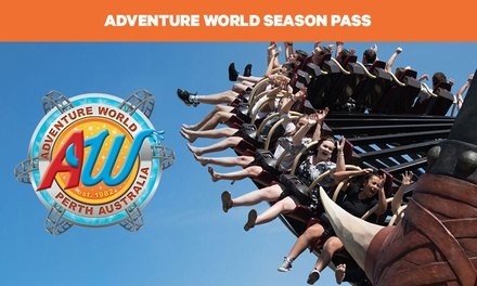 Adventure World Season Pass: Child ($140), Adult ($160), Senior ($55), or Family of 3 ($399.50), 4 ($485) or 5 ($545)