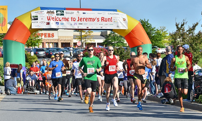 Jeremy's Run - Ashton-Sandy Spring: 10K or 5K Run for One, or Fun Run for Two to Jeremy's Run (Up to 51% Off)