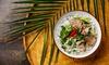 Vietnamesisches Menü mit Pho-Suppe