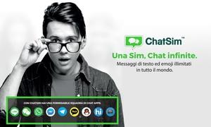 Sim internet estero ChatSim: ChatSim: 1 anno di internet all'estero per messaggiare in tutto il mondo con ChatSim (58% di sconto)