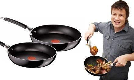 2 tefal jamie oliver frying pans