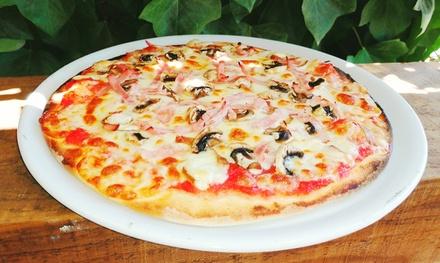 Menú para 2 o 4 personas con entrante, pizza, postre y bebida en Kriss Campello (hasta 63% de descuento)