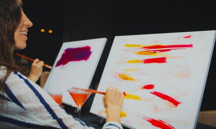 Paint Boire - Multiple Locations: Paint and Drink Event for One, Two, or Four at Paint Boire (Up to 66% Off)