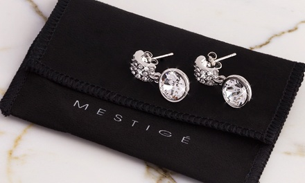 Molly oorbellen, versierd met kristallen van Swarovski, incl. verzending