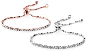 (Exclusive)  Bracelet cristaux Swarovski  -76% réduction
