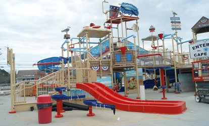 3 Park Combo Pass, $10 Arcade Card and a Round of <strong>Mini Golf</strong> at Cape Cod Inflatable Park (49% Off )