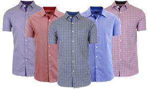 Galaxy by Harvic Men's Short-Sleeve Slim-Fit Dress Shirts (S–2XL)
