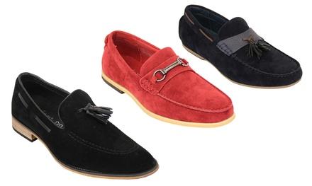 Men's Suede Look Loafers