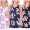 Women's Floral Tunic Tank Top. Plus Sizes Available.