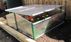 Double Cold-Frame Easy-Assemble Greenhouse