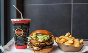 Fat Burger: Burger, Side and Premium Milkshake or Bottomless Soft Drinks at Fatburger (Up to 42% Off)