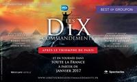 1 place au choix pour le retour du spectacle « Les 10 Commandements » le 16 et 17 juin 2017 dès 23 € à Tours