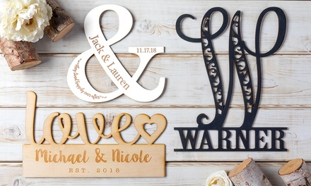 One or Two Personalized Wood Home Decor Signs from Personalized Planet (Up to 81% Off)
