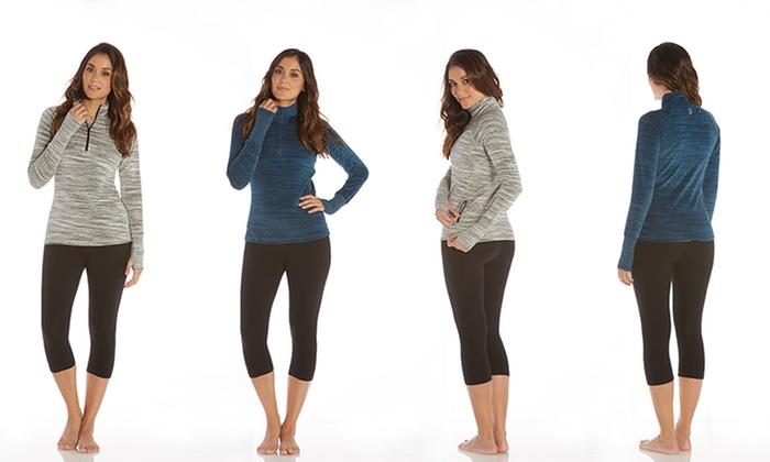 Marika Balance Women's Velour Quarter-Zip Pullover