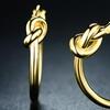 18K Gold Plated Knot Hoop Earrings By Euphir