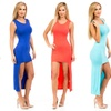 Women's High-Low Solid-Colored Dress