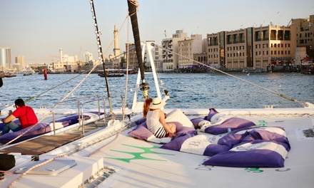 Two Hour Dubai Creek Catamaran Cruise for Up to Four with Belevari Marine (Up to 70% Off)