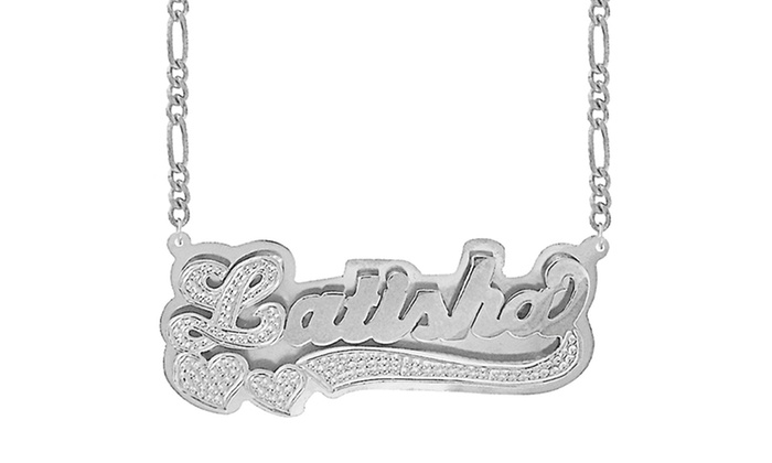 necklace personalized aleina name plate bar nameplate