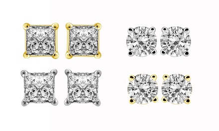 1/3 CTTW Diamond Stud Earrings in 14K Gold by Brilliant Essence Value Collection