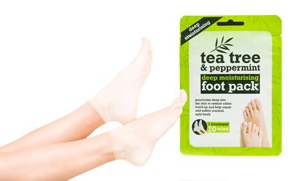 Fuß-Packung-Set Tea Tree & Peppermint gegen Schwielen (bis zu 67% sparen*)