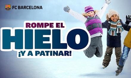 Paga 1€ y consigue entrada por 7€ en taquilla a pista de Hielo del FC Barcelona con patines