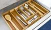 Adjustable Bamboo Cutlery Tray