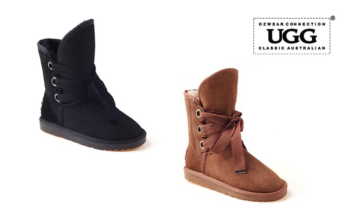 f4455b6f4bd Ozwear Bedouin Lace-Up UGG Boots | Groupon Goods