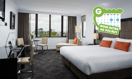 Brisbane: 1 Night for 2 with Buffet Brekky, Late Check-Out, Parking at The 4* Park Hotel Brisbane