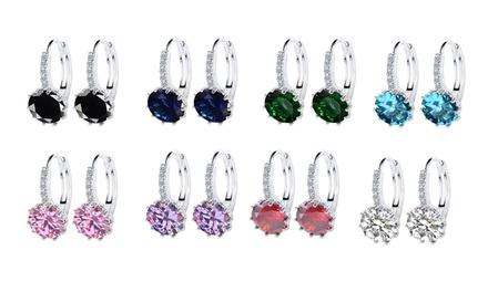 Cubic Zirconia Elegant Hoop Earrings: Four Pairs $16 or Eight Pairs $26