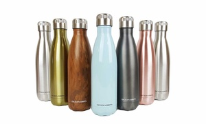 Clearance: Godinger Stainless Steel 17oz Water Bottles (1 or 2 Pack)