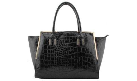 Fashion Designer Handtasche in Schwarz