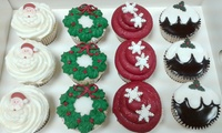 Box of 6 or 12 Christmas Cupcakes at The Cake Gallery (Up to 73% Off)