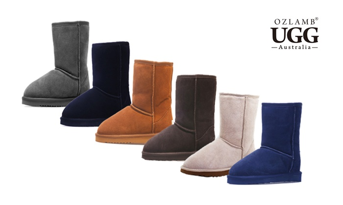 Groupon Goods: $79 Ozlamb Premium 3/4 Mid UGG Boots in Choice of Colour and Size (Don't Pay $256.65)
