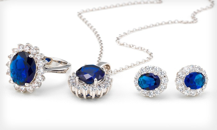 Royal Anniversary-Inspired Jewelry: Royal Anniversary-Inspired Ring, Earrings, or Jewelry Set (Up to 90% Off). Free Returns.