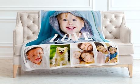 Personalisierte Decke mit Fotos oder Namen von Printerpix