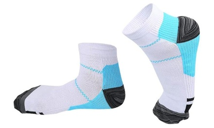 One, Two or Three Pairs of Plantar Fasciitis Support Compression Socks in Choice of Size