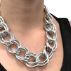 Open Double Link Chain Necklace