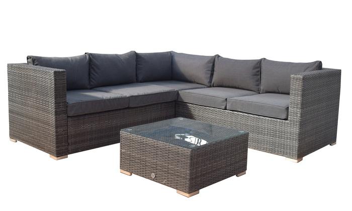 Hand Woven Wicker Sofa Set Groupon