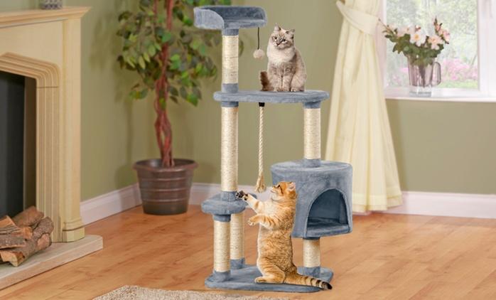 Arbre à chat, taille et coloris au choix dès 49,90 € (jusqu'à 48% de réduction)
