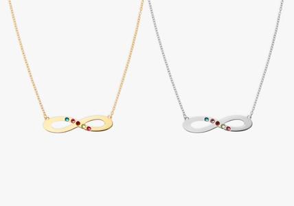 Personalized Infinity Birthstone Pendant Made with Swarovski Elements