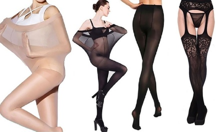 Duo collants : ultra résistant + effet porte-jarretelles
