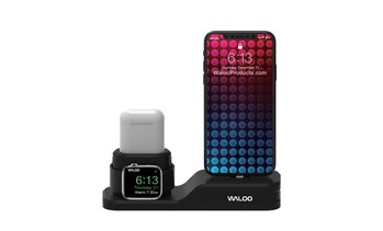 Waloo Silicone 3-in-1 Charging Dock for iPhone, Apple Watch, & AirPods