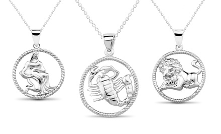 Sterling Silver Horoscope Necklaces. Multiple Signs Available. Free Returns.